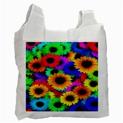Colorful Sunflowers Recycle Bag (Two Sides)