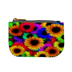 Colorful Sunflowers Coin Change Purse