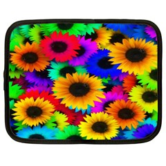 Colorful Sunflowers Netbook Sleeve (XL)