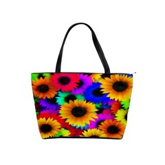 Colorful Sunflowers Large Shoulder Bag