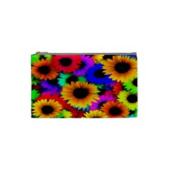 Colorful Sunflowers Cosmetic Bag (Small)