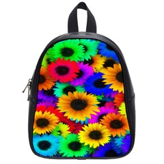Colorful Sunflowers School Bag (Small)