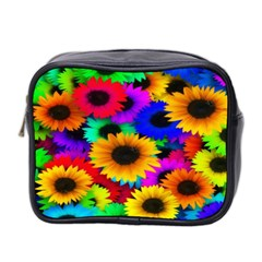 Colorful Sunflowers Mini Travel Toiletry Bag (two Sides)