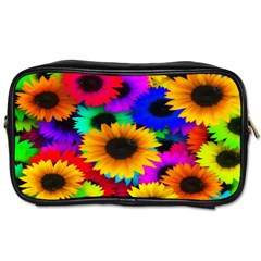 Colorful Sunflowers Travel Toiletry Bag (two Sides)