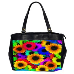 Colorful Sunflowers Oversize Office Handbag (two Sides)