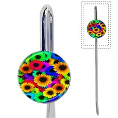 Colorful Sunflowers Bookmark