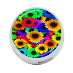 Colorful Sunflowers 4-Port USB Hub (One Side)