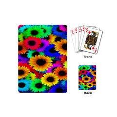 Colorful Sunflowers Playing Cards (mini)