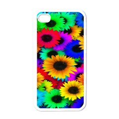 Colorful Sunflowers Apple iPhone 4 Case (White)