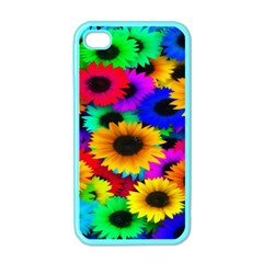 Colorful Sunflowers Apple Iphone 4 Case (color)