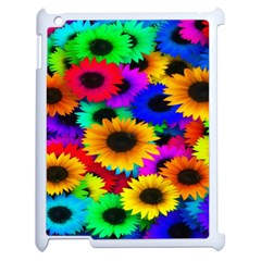 Colorful Sunflowers Apple iPad 2 Case (White)