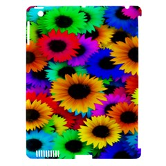 Colorful Sunflowers Apple iPad 3/4 Hardshell Case (Compatible with Smart Cover)