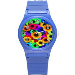 Colorful Sunflowers Plastic Sport Watch (Small)