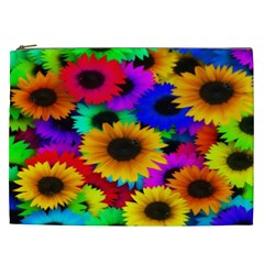 Colorful Sunflowers Cosmetic Bag (xxl)