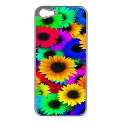 Colorful Sunflowers Apple iPhone 5 Case (Silver)