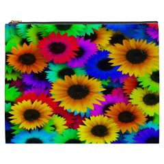 Colorful Sunflowers Cosmetic Bag (XXXL)