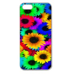 Colorful Sunflowers Apple Seamless Iphone 5 Case (clear)