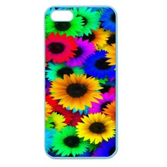 Colorful Sunflowers Apple Seamless Iphone 5 Case (color)