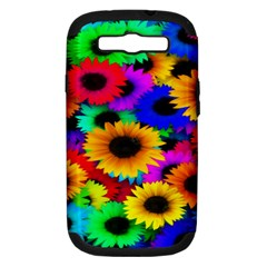 Colorful Sunflowers Samsung Galaxy S Iii Hardshell Case (pc+silicone)
