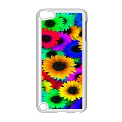Colorful Sunflowers Apple Ipod Touch 5 Case (white)