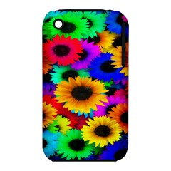 Colorful Sunflowers Apple Iphone 3g/3gs Hardshell Case (pc+silicone)