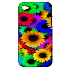 Colorful Sunflowers Apple iPhone 4/4S Hardshell Case (PC+Silicone)