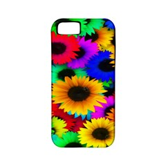Colorful Sunflowers Apple Iphone 5 Classic Hardshell Case (pc+silicone)
