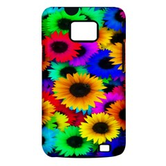 Colorful Sunflowers Samsung Galaxy S II i9100 Hardshell Case (PC+Silicone)