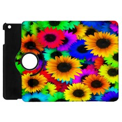Colorful Sunflowers Apple Ipad Mini Flip 360 Case