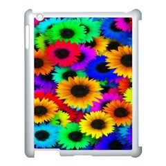 Colorful Sunflowers Apple iPad 3/4 Case (White)
