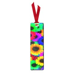 Colorful Sunflowers Small Bookmark