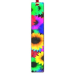 Colorful Sunflowers Large Bookmark