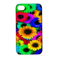Colorful Sunflowers Apple iPhone 4/4S Hardshell Case with Stand