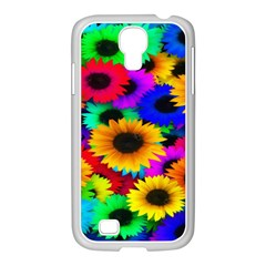 Colorful Sunflowers Samsung GALAXY S4 I9500/ I9505 Case (White)