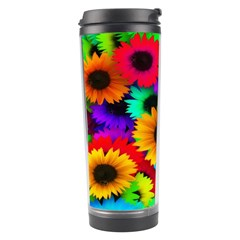 Colorful Sunflowers Travel Tumbler