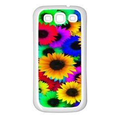 Colorful Sunflowers Samsung Galaxy S3 Back Case (white)