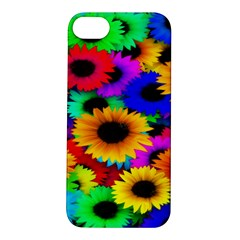 Colorful Sunflowers Apple iPhone 5S Hardshell Case