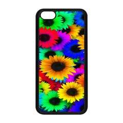 Colorful Sunflowers Apple iPhone 5C Seamless Case (Black)