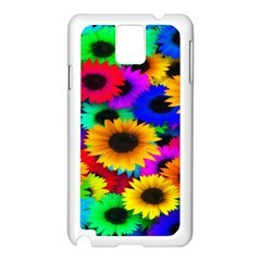Colorful Sunflowers Samsung Galaxy Note 3 N9005 Case (White)