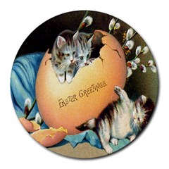 Vintage Easter 8  Mouse Pad (Round)