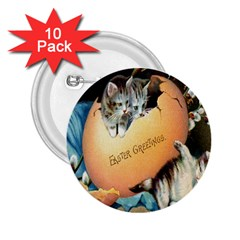 Vintage Easter 2.25  Button (10 pack)