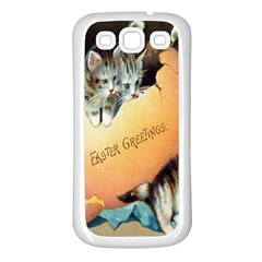 Vintage Easter Samsung Galaxy S3 Back Case (White)