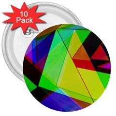 Moderne 3  Button (10 pack)