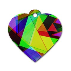Moderne Dog Tag Heart (Two Sided)