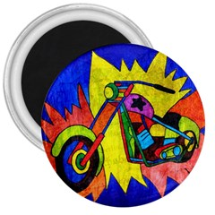 Chopper 3  Button Magnet