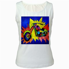 Chopper Women s Tank Top (White)