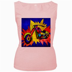 Chopper Women s Tank Top (Pink)