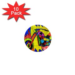Chopper 1  Mini Button Magnet (10 pack)