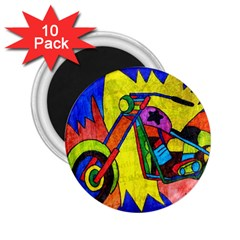 Chopper 2.25  Button Magnet (10 pack)