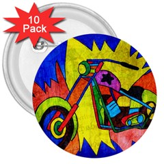 Chopper 3  Button (10 Pack)
